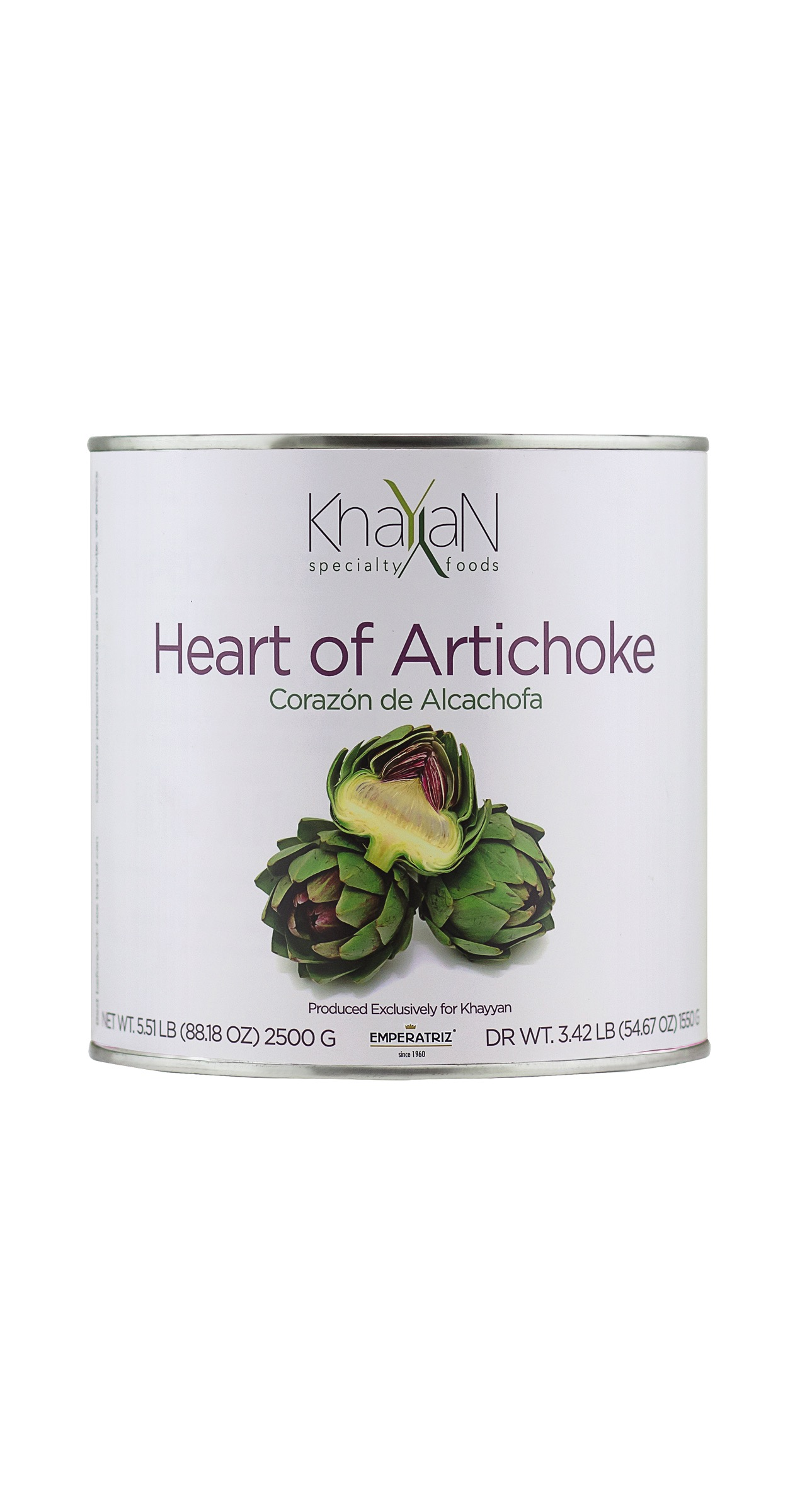 Vegetable Preserves, artichokes, institutional size