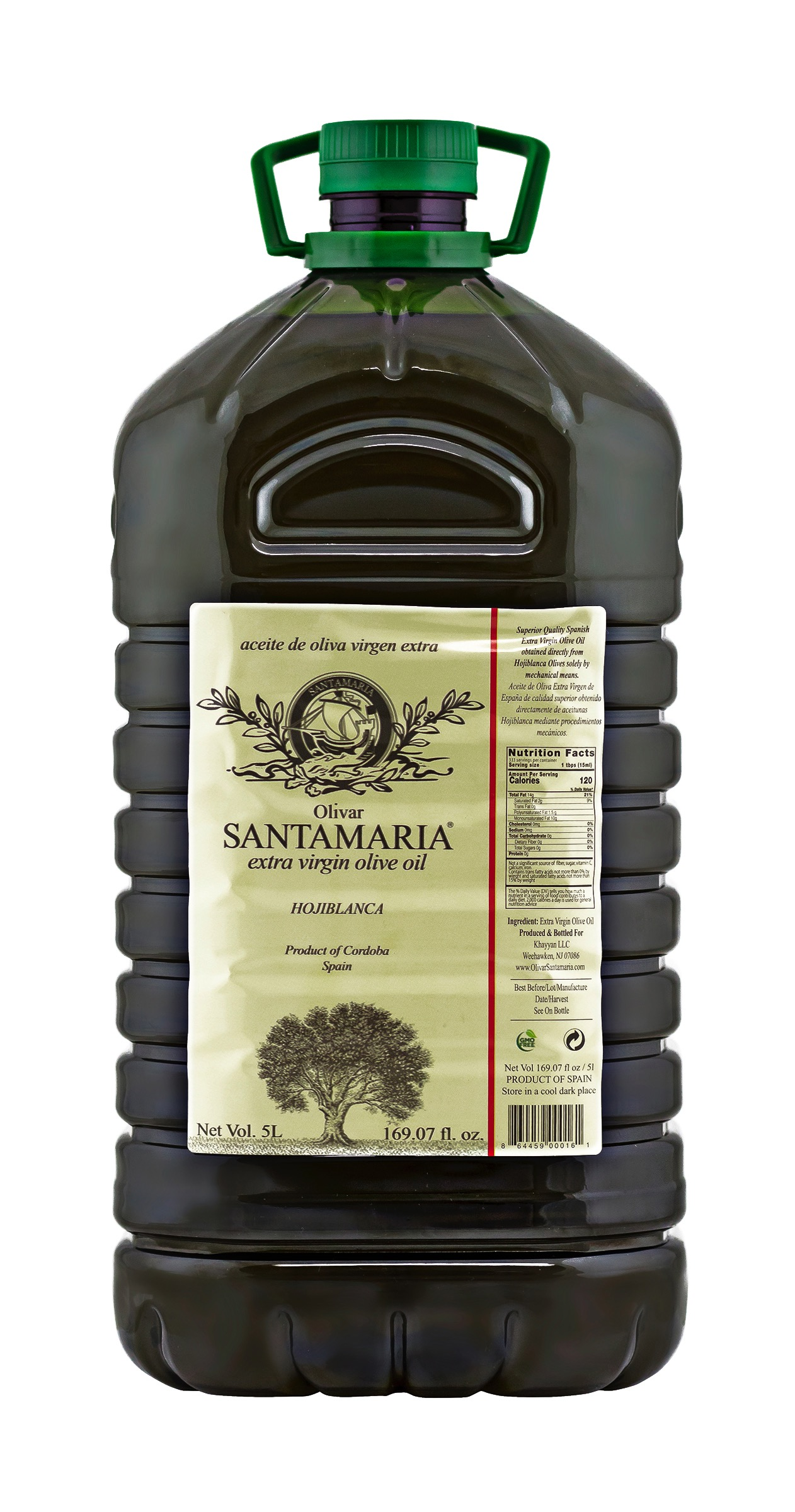 Extra Virgin Olive Oil Hojiblanca Institutional Size